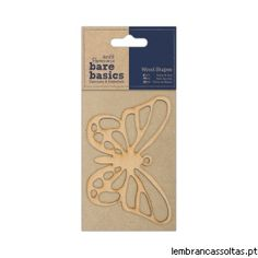 Bare Basics - Wood Shapes - Butterfly
