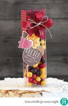 Autumn Red Treat Tube by Laurie Schmidlin