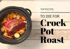 Amazing flavor, and so simple! No salt needed here. In fact, you may wish to use half the ranch dressing mix to cut back on the saltiness. Found this Crock-Pot pot roast recipe on of a website called www.recipegoldmine.com. Its all the rage there, so I thought Id try it.
