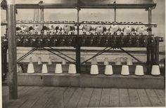 Bata Derbyshire & Blackburn Adlington Textile Mill Chorley Lancashire,  need help describing machine and process, photo courtesy Charles Novotny Family Archive, we have more photos of the looms and employees of this mill, contact BRRC or see website