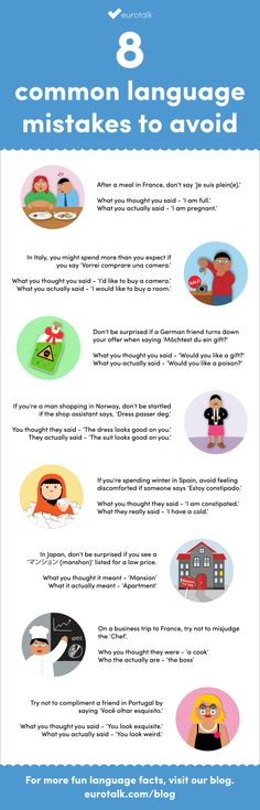 8 common language mistakes to avoid [infographic]