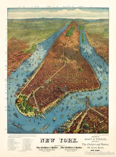 1879 - Aerial Map for Root & Tinker of New York