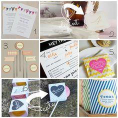 freeweddingprintables by athriftymrs.com, via Flickr