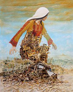 Impressive artwork from Imad Abu Shtayyeh. Gaza will rise. Palestine will be free. Palestine Art, Arab World, Illustration Art, Illustrations, Arabic Art, Foto Art, Culture, Drawings, Artwork