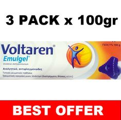 3X100gr Voltaren Emulgel 300gr Pain Relieving Gel ***BEST OFFER*** #Voltaren