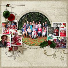 A lot of Christmas pictures on this layout.