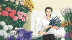 Hermes in a flower shop. Are these irises for Irina? Or just warrior prince's sword-flowers? Arslan Senki fanart