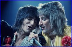 Rod Stewart and Ronnie Wood