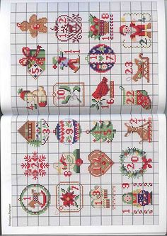Pere Noel - Orlanda Xmas Cross Stitch, Cross Stitch Christmas Ornaments, Cross Stitch Love, Cross Stitch Cards, Christmas Embroidery, Christmas Cross, Counted Cross Stitch Patterns, Cross Stitch Designs, Cross Stitching