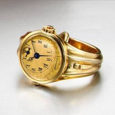 Breguet gold ring watch w/alarm c. Antique Watches, Vintage Watches, Ring Watch, Bracelet Watch, High Jewelry, Jewelry Accessories, Telling Time, Gems And Minerals, Watches For Men