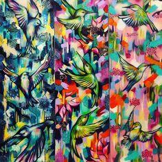 Making things shiny again #shiny #resin #colour #colourpop #canvas #sprayart #spraypaint #streetartstyle #collage #texture #bird #hummingbird #heavybodyacrylic #squeegee #travel #tropical #blossom #travelinspired #Japanese #sianstoreyart #art #artist #artgallery #artoftheday by sianstoreyart