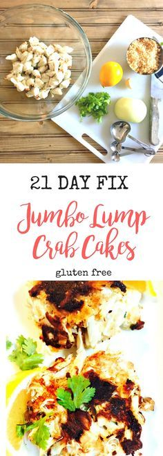 21 Day Fix Jumbo Lump Crab Cakes {Gluten-free} - Confessions of a Fit Foodie