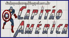 Salve o monograma completo aqui:  http://dinhapontocruz.blogspot.com.br/2014/05/monograma-capitao-america.html