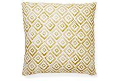 Morris 20x20 Pillow, Gold on OneKingsLane.com - Kari Fisher Designs