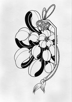Japanese Flower Tattoo, Japanese Tattoo Designs, Japan Tattoo Design, Family Tattoo Designs, Graffiti Doodles, Tattoo Themes, Traditional Tattoo Art, Asian Tattoos, Oriental Tattoo