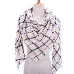 2019 new winter women scarf soft thick neck rings fashion plaid cashmere shawls wraps lady pashmina bandana blanket foulard Bandana, Tartan, Dame, Plaid Fashion, Fashion Scarves, Style Fashion, Fashion Women, Cashmere Shawl, Silk Shawl