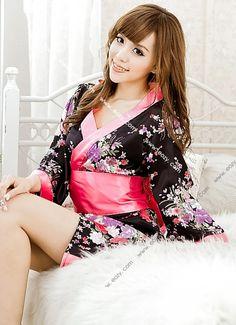 Floral Sexy Babydoll Lingerie Underwear Kimono Sleepwear Nighty Dress Gown