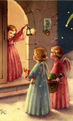vintage Xmas angels                                                                                                                                                                                 More