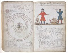 17th century navigation journal.  Located Museum of the City of New York.