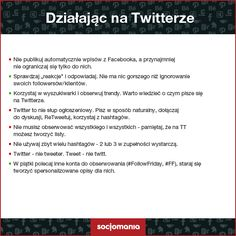 #Twitter - dobre praktyki :) by #Socjomania #Socjotips