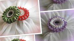 Kanzashi/ Канзаши на заколку или ободок, два вида/ МК/ DIY/new petals/