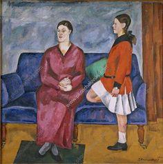 Portrait of S. P. Konchalovsky with her daughter - Pyotr Konchalovsky
