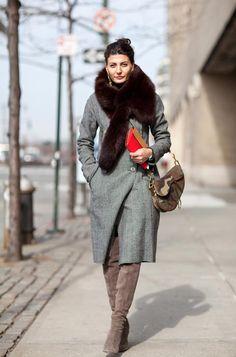Giovanna Battaglia brought out a throw back Christian Dior Saddle bag for #NYFW Fall 2012
