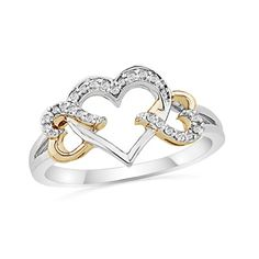Diamond Triple Heart Ring to represent the three loves of my life  Steve, Carrie and Derrick