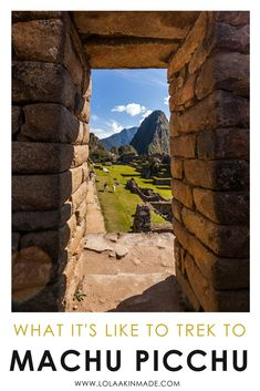 A complete visual guide to trekking to Machu Picchu in Peru. Hike along the famous Inca Trail finding llamas and making friends along the way. Take incredible photos and experience the history of the Peruvian people. Travel in Peru. | Geotraveler's Niche Travel Blog #Peru