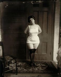Storyville prostitute.  E.J. Bellocq (1873 - 1949) was a professional New Orleans photographer known for his haunting photo's of prostitutes from New Orleans's Storyville district, taken in the early 20th Century, which were eventually published by Lee Friedlander in the book Storyville Portraits.