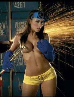 Sexy welding girls