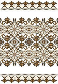 Scheme of Ukrainian embroidery Border Embroidery Designs, Folk Embroidery, Cross Stitch Embroidery, Embroidery Patterns, Cross Stitch Designs, Cross Stitch Patterns, Cross Stitch Flowers, Celtic Cross Stitch, Cross Stitch Geometric
