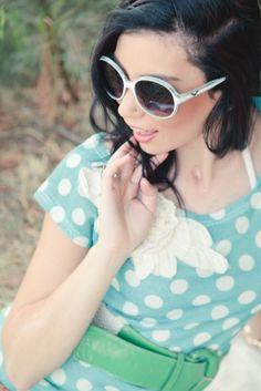 love polka dots Cat Eye Sunglasses, Polka Dots, Eyes, Fashion, Moda, Fashion Styles, Fasion, Dots
