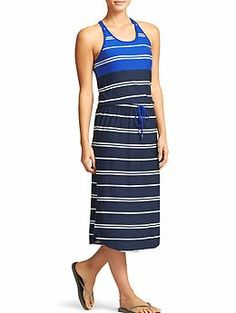 Stripe Cressida Dress - The lightweight maxi dress with a T-back, flattering waist cinch and built-in support.