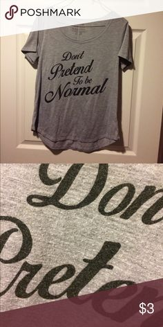🔥$3 Bundle Item Medium Gray Tee GUC! Letters appear slightly faded as pictured. $3 Bundle Items MUST be bundled with three or more items to receive bundle cost! ***included in 5 items for $10 promo! See closet add for details!!! Generation Kind  Tops Tees - Short Sleeve
