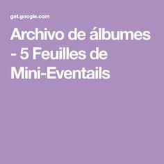 Archivo de álbumes - 5 Feuilles de Mini-Eventails Album, Mini, Filing Cabinets, Computer File, Hand Fans, Leaves, Card Book