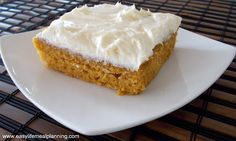 Heavenly Pumpkin Bars with Cream Cheese Frosting