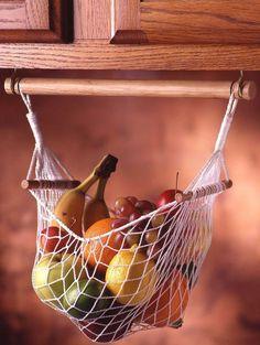 38 Best RV Camper Organization With Storage Ideas Under Cabinet Fruit & Veggie Hammock - Prodyne - Food Storage Rv Campers, Camper Trailers, Camper Van, Travel Trailers, Rv Travel, Travel Hacks, Teardrop Campers, Small Campers, Camper Caravan