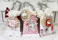 Cute gift cards from Melissa Frances with a sweet retro theme