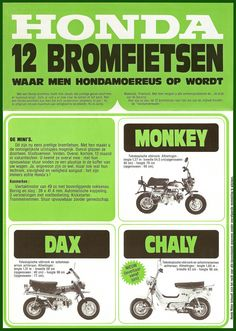 Honda Dax , Chaly and Monkey (Dutch)