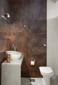 Fireplace Feature Wall, Home Spa Room, Masculine Bathroom, Small Toilet, Brown Bathroom, Modern Shower, Corten Steel, Style Tile, Shower Remodel
