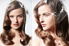 Medium Length Smooth Waves Wedding Hair