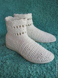 "Сапожки ""Sweet Melancholy "" - вязаные сапожки,сапожки вязаные,летняя обувь"