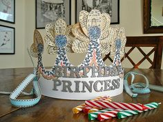 Birthday Princess crown. by DKM Art, via Flickr