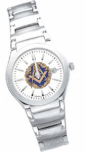Masonic Blue Lodge Watch [DRSFMMSW-59]Blue Lodge Watch by Bulova with a clip style band.