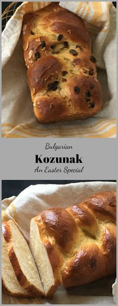 Bulgarian Kozunak –  A Sweet Easter Bread  . Kozunak is a traditional Bulgarian Easter Bread. The recipe uses eggs, butter  and milk and yields an incredibly soft and sweet loaf. A little bit of  braiding makes  it into a dramatic  centerpiece.