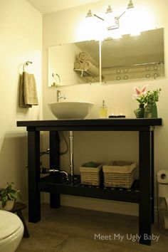 Escape The Bathroom Hacked ikea norden sink hack | ikea hack, sinks and bath