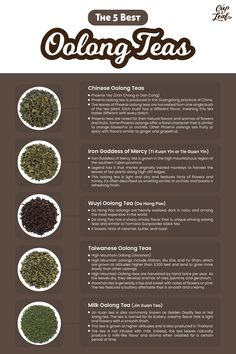 The 5 Best Oolong Teas With Flavors From Sweet to Smoky - Cup & Leaf Oolong Tea Benefits, Tea Varieties, Tea Plant, Chinese Tea, Tea Blends, Herbal Tea, Tea Recipes, Herbal Remedies, Herbs