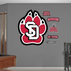 Fathead South Dakota Coyotes Wall Decals, Multicolor