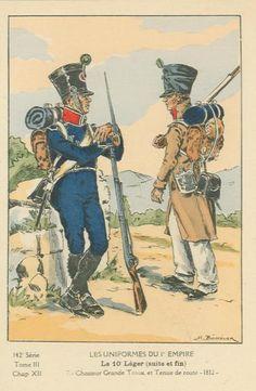 French; 10th Light Infantry, Chasseur Grande Tenue & Tenue de Route, 1812